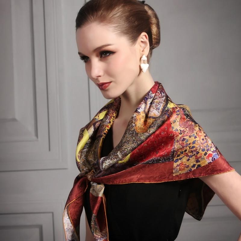 宝石蝶围巾加盟图片