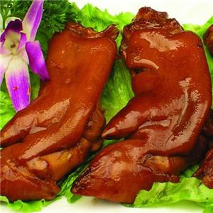 陆玮猪脚熟食加盟图片 加盟店装修图