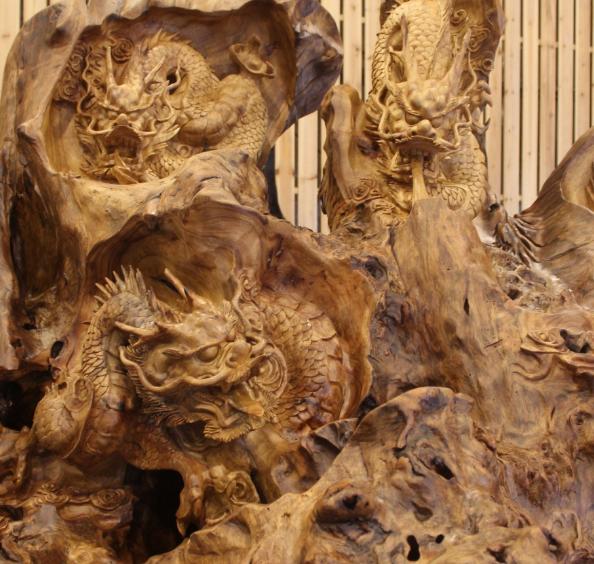 艺天鹅木雕工艺品加盟图片