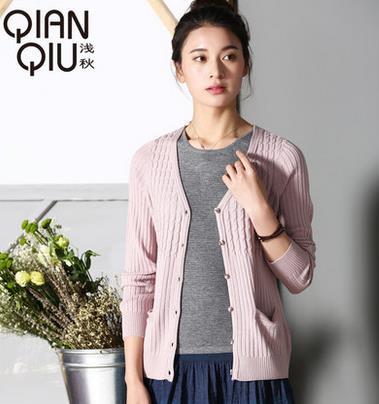 浅秋羊毛衫