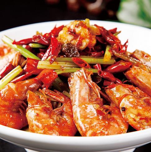 蟹巢香辣虾