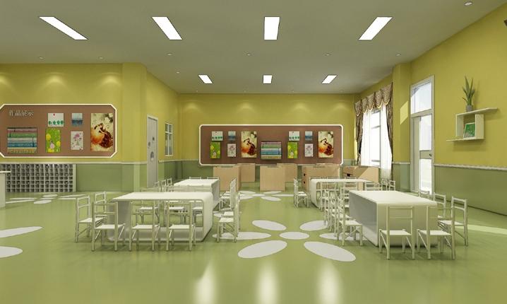 幼儿园加盟店室内墙面如何装饰