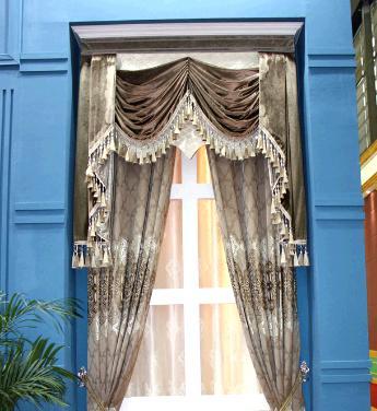 蓝天窗帘加盟图片