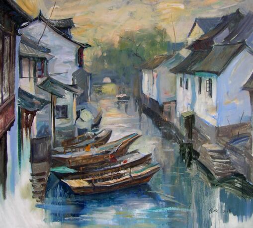海泉油画加盟图片