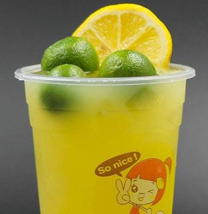 鲜茶柠檬宝贝奶茶加盟图片