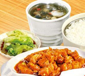 金勺子快餐加盟图片