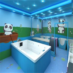 捣蛋熊猫婴儿游泳馆加盟图片