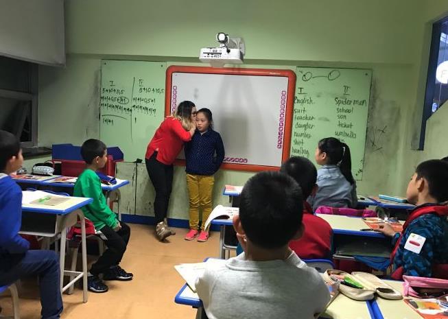ABC外语学校课堂图