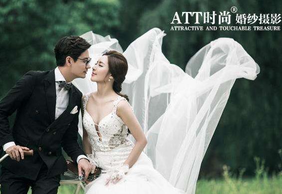 att婚纱摄影效果图