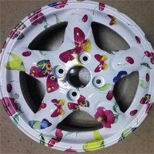 轮毂彩绘加盟图片