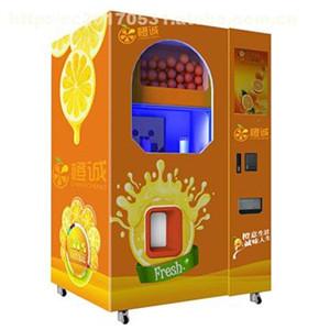 鲜榨橙汁自助贩卖机加盟图片
