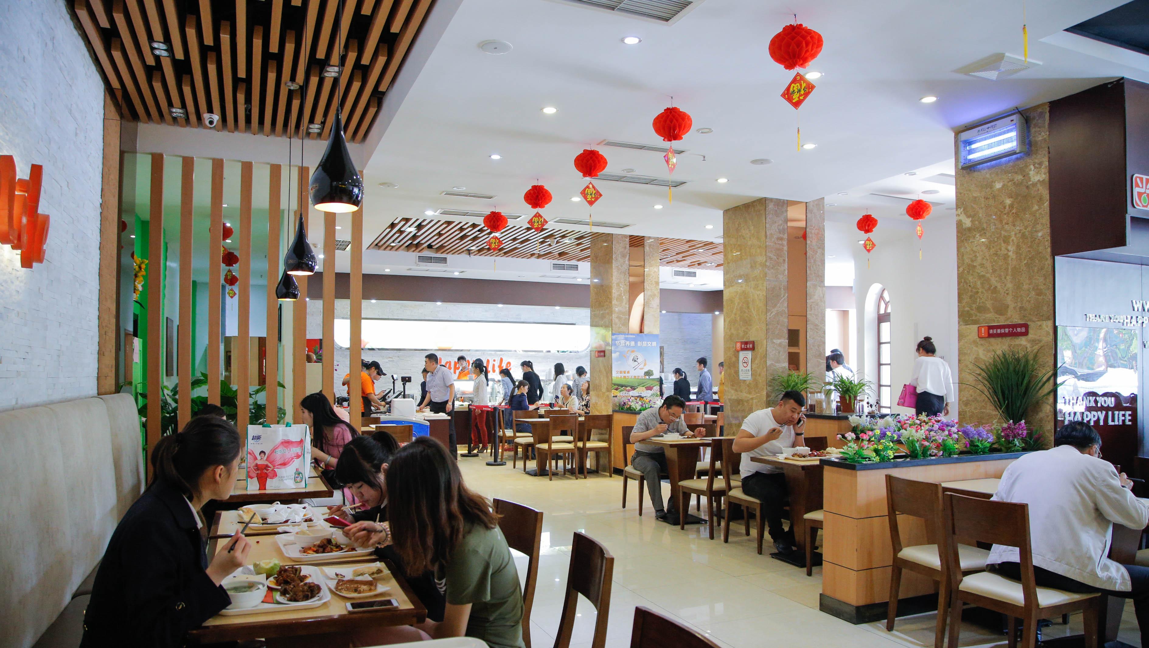 中式快餐店内景一览