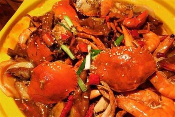 巴比酷肉蟹煲可口
