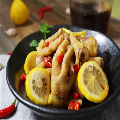 柠檬鸡爪加盟图片