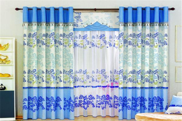 紅藍青窗簾布藝加盟
